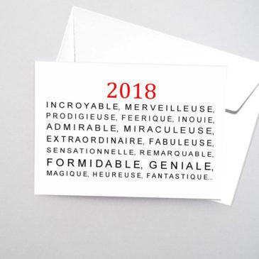Belle année 2018 !
